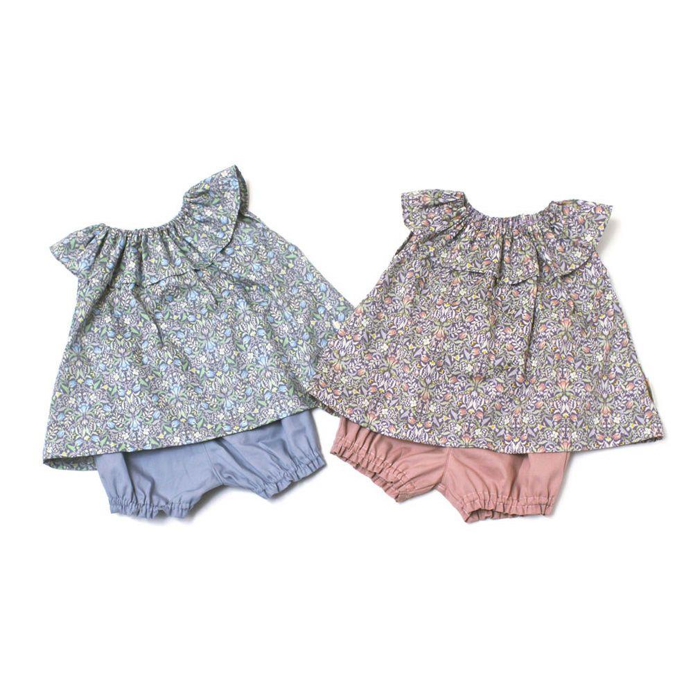petit tresor(プチトレゾワ) すずらん柄ベビースーツ (80cm)