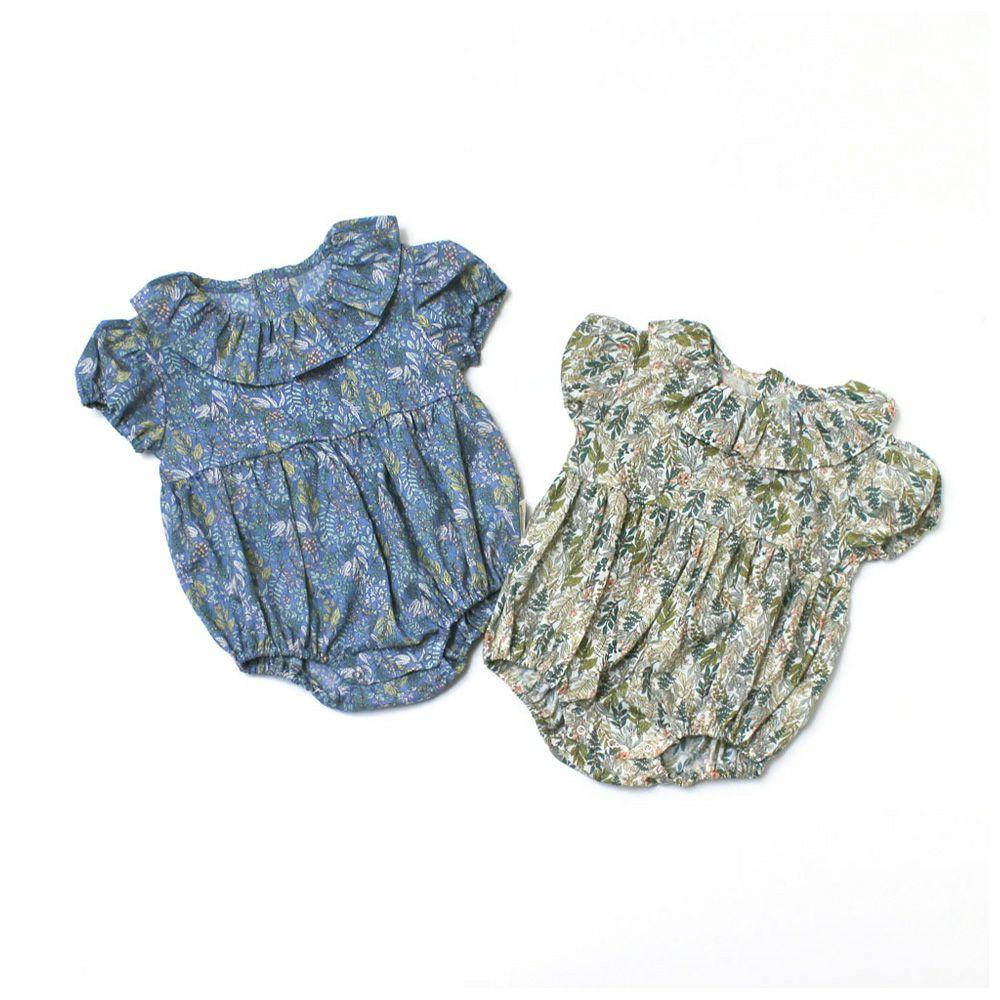 petit tresor(プチトレゾワ) クラシカルフラワー 衿付きロンパース (70-80cm)