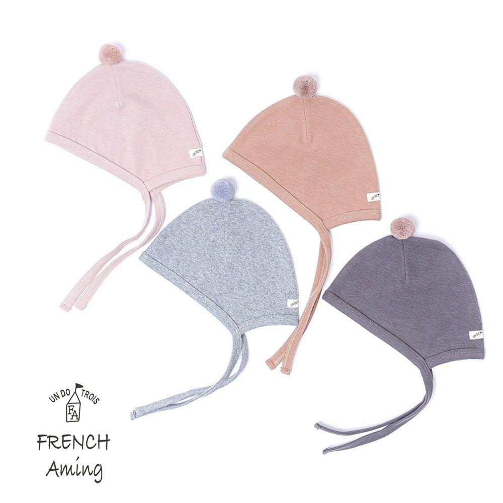 FRENCH Aming(フレンチアミング) ベビーぼん天付帽子 (40-48cm)