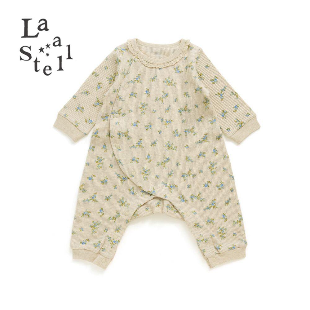 La stella(ラ・ステラ) コバナプリント 新生児ロンパース アイボリー (70cm)