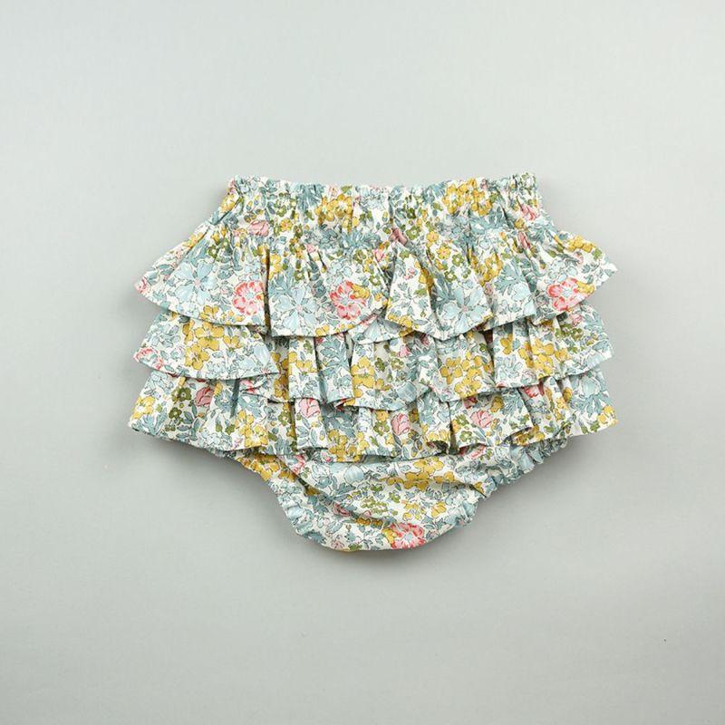 mimi poupons(ミミプポン) フリルパンツ/LIBERTY ウッドハム