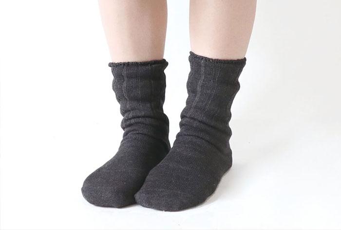 4足重ね履き靴下 シルクと綿